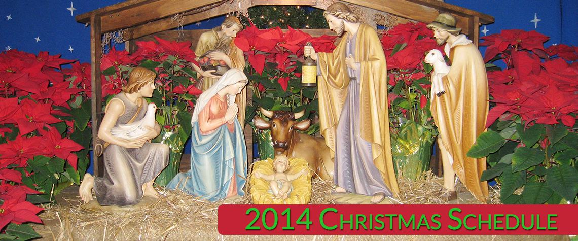 Christmas schedule slider