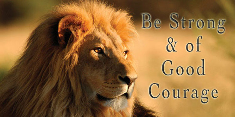 Image result for be of good courage